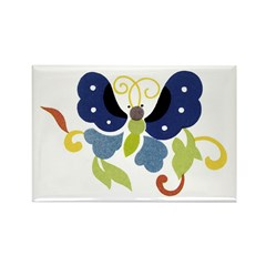 Butterfly 13 Store Rectangle Magnet (10 pack)