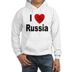 I Love Russia (Front) Hooded Sweatshirt