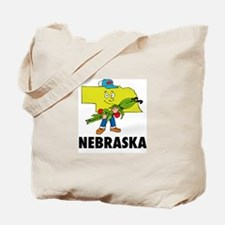 Nebraska Fun State Tote Bag