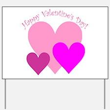 Valentine Hearts Trio Yard Sign