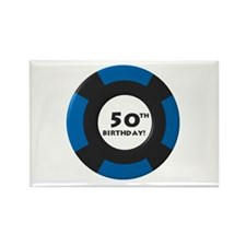 Vegas 50th Birthday Rectangle Magnet