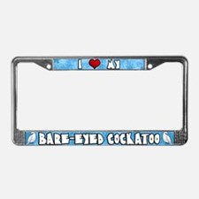 Crtn Love Bare-Eyed Cockatoo License Plate Frame