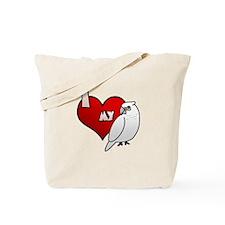 I Love my Bare-Eyed Cockatoo Tote Bag
