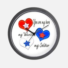 3 Hearts Soldier Wall Clock