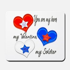 3 Hearts Soldier Mousepad