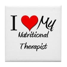 I Heart My Nutritional Therapist Tile Coaster
