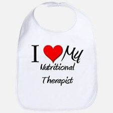 I Heart My Nutritional Therapist Bib