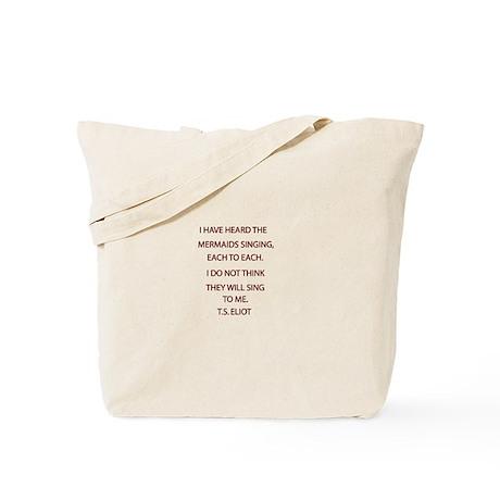 T.S. Eliot Mermaid Tote Bag