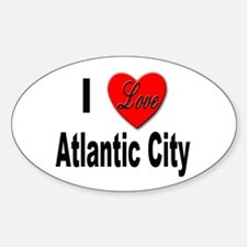 I Love Atlantic City Oval Decal