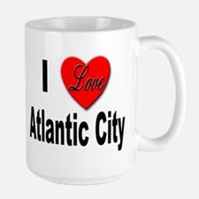 I Love Atlantic City Large Mug