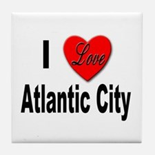 I Love Atlantic City Tile Coaster