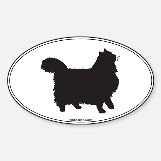 Norwegian Forest Silhouette Oval Decal