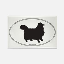 Norwegian Forest Silhouette Rectangle Magnet