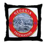Georgia Masons Throw Pillow