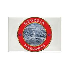 Georgia Masons Rectangle Magnet