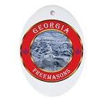 Georgia Masons Oval Ornament