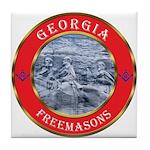Georgia Masons Tile Coaster