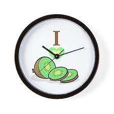 I love Kiwis Wall Clock