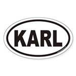 KARL Euro Oval Sticker