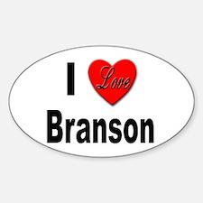 I Love Branson Missouri Oval Decal
