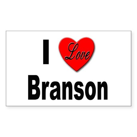 I Love Branson Missouri Rectangle Sticker