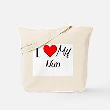 I Heart My Nun Tote Bag