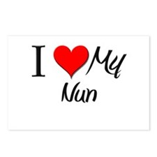 I Heart My Nun Postcards (Package of 8)