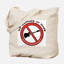 No Guitars Tote Bag