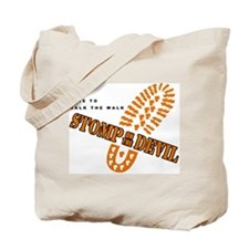 Stomp On The Devil - Walk On Tote Bag