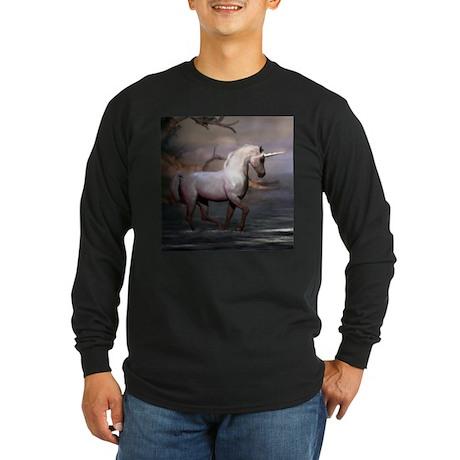 Morning Unicorn Long Sleeve Dark T-Shirt