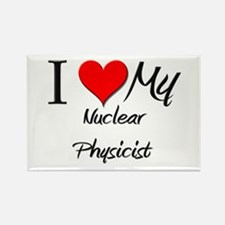 I Heart My Nuclear Physicist Rectangle Magnet