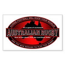 Australian Rugby Rectangle Decal