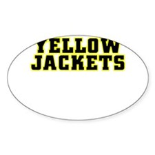 Yellow Jackets Oval Decal