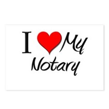 I Heart My Notary Postcards (Package of 8)