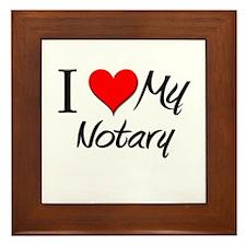 I Heart My Notary Framed Tile