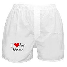 I Heart My Notary Boxer Shorts