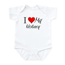 I Heart My Notary Infant Bodysuit