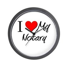 I Heart My Notary Wall Clock