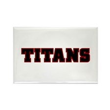 Cardinal Red and Black Titans Rectangle Magnet