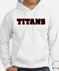 Cardinal Red and Black Titans Hoodie