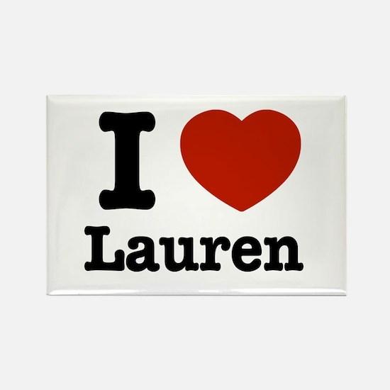 I love Lauren Rectangle Magnet