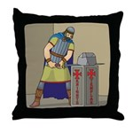 KT With Sword Throw Pillow