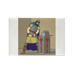 KT With Sword Rectangle Magnet (10 pack)