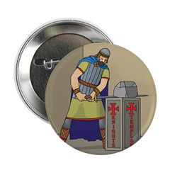 """KT With Sword 2.25"""" Button (10 pack)"""