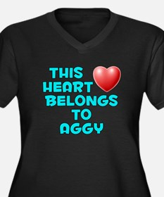 This Heart: Aggy (E) Women's Plus Size V-Neck Dark
