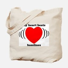 My Heart Beats Basslines Tote Bag
