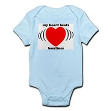 My Heart Beats Basslines Infant Bodysuit