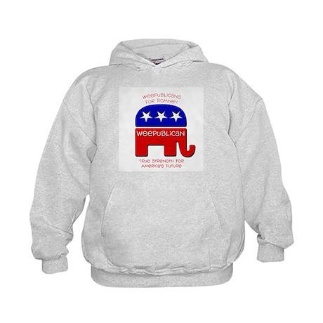 Weepublicans for Romney Kids Hoodie