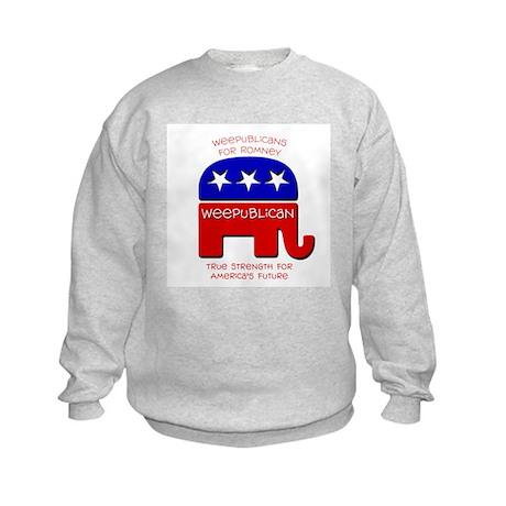 Weepublicans for Romney Kids Sweatshirt