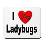 I Love Ladybugs for Insect Lovers Mousepad